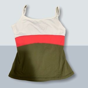 Size 4 White, Red, and Army Lululemon Tank